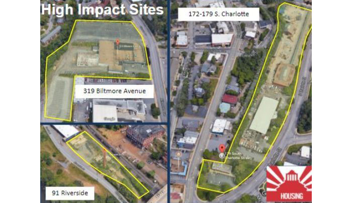 Three city owned parcels for affordable housing